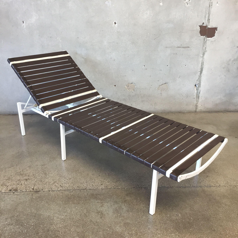 Pair Of Vintage Mid Brown Jordan Style Century Chaise