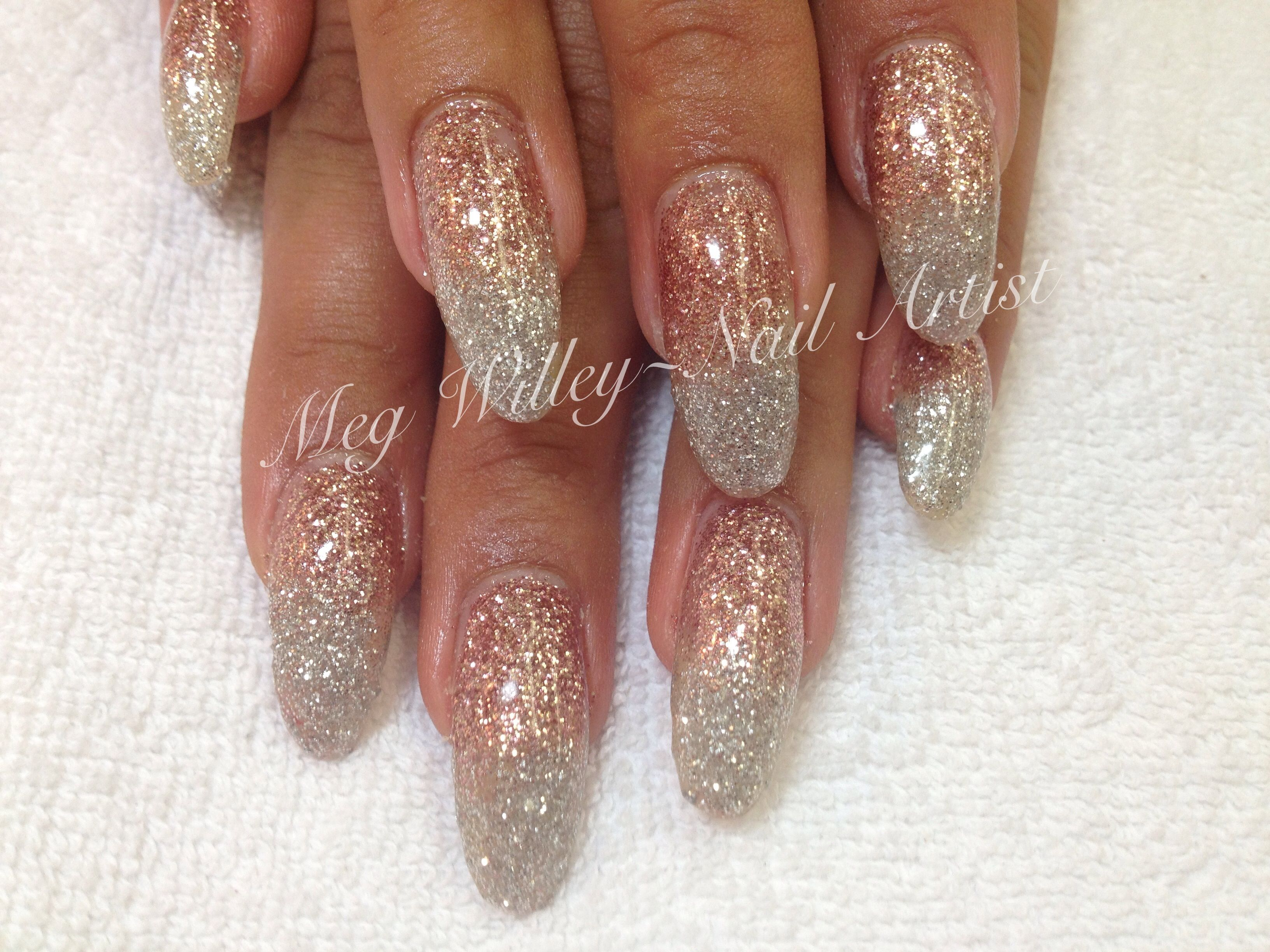 Rose gold And silver glitter   Meg's nail designs ...