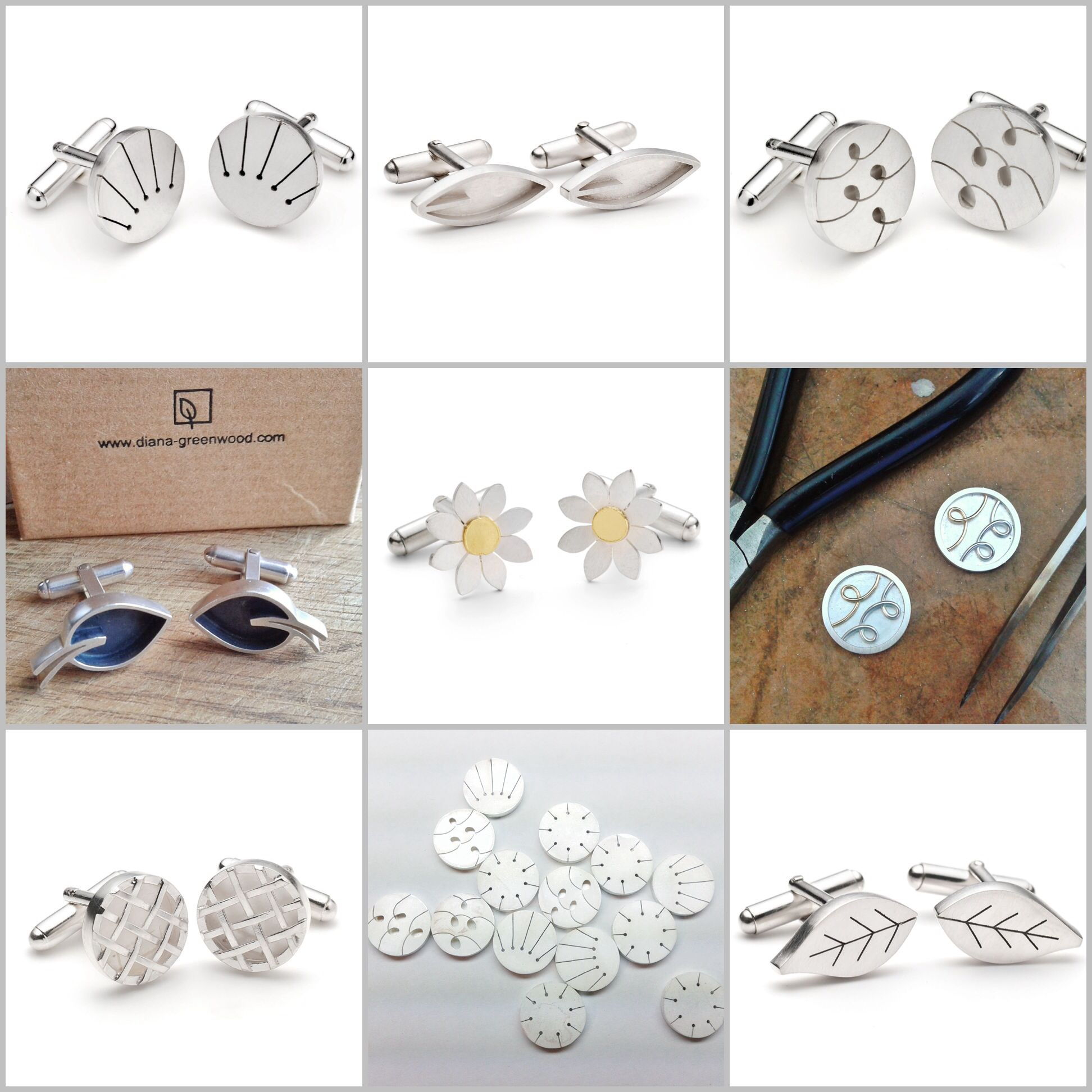 Cufflinks by Diana Greenwood www.diana-greenwood.com
