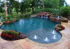 20 Unique Outdoor Swimming Pool Design Ideas Inspiring Water Features Backyard Pool Swimming Pools Backyard Swimming Pool House