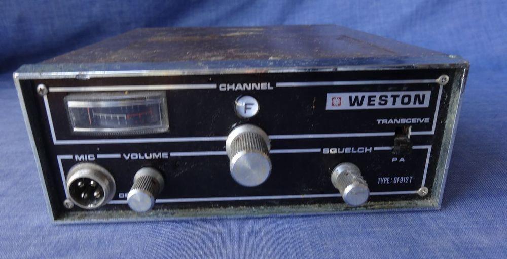 Vintage Weston Of912t Marine Cb Radio 27mhz Untested Cb Radio Radio Vintage Radio