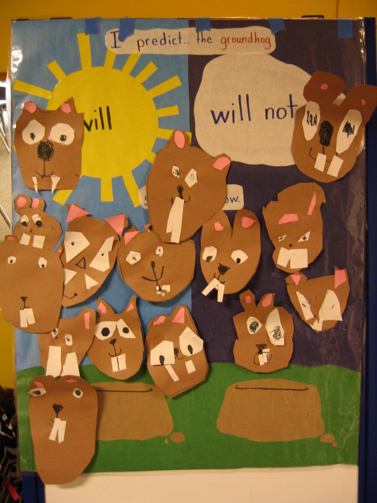 Pre K Preschool Groundhog Craft And Guessing Prediction