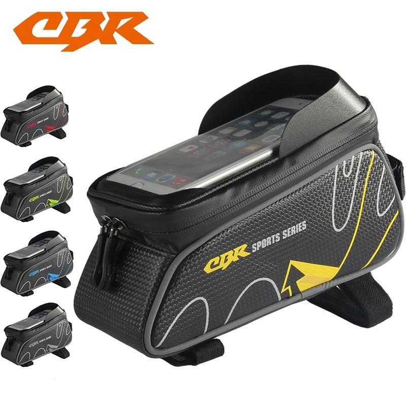 Mountain Bike Bicycle Bag Front Beam Package Tube Waterproof Phone Saddle Bags D