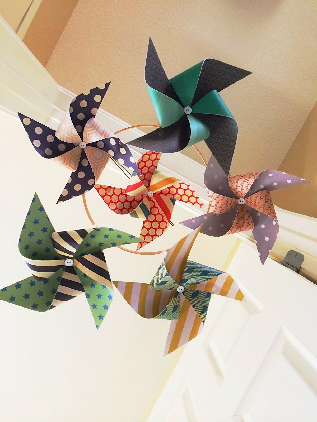 DIY Pinwheel : DIY Pinwheel Mobile   Artesanato