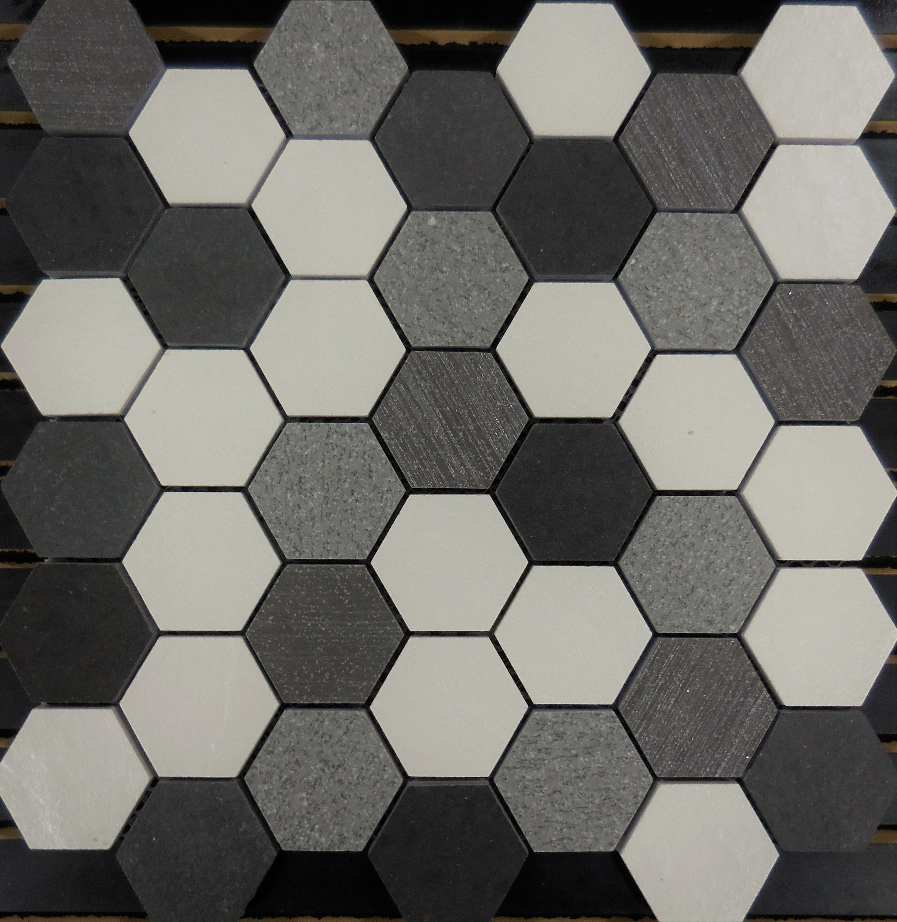 Pth7017 Porcelain Mosaic Salt N Pepper Hexagon Schillings