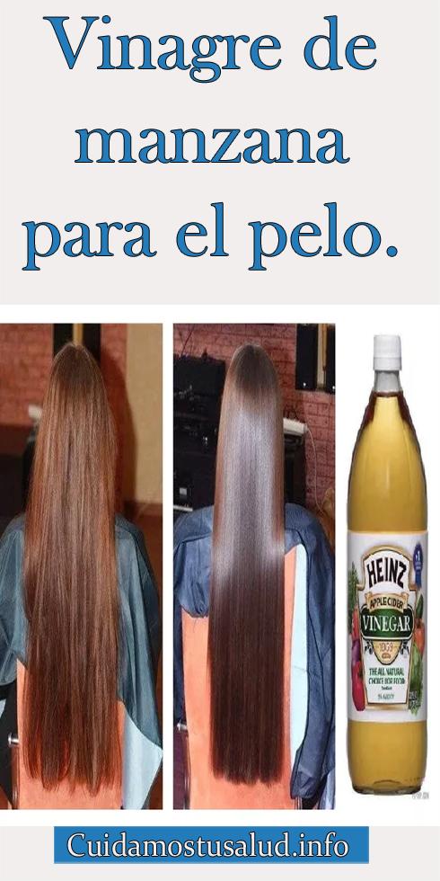 vinagre de manzana y manzanilla para el cabello