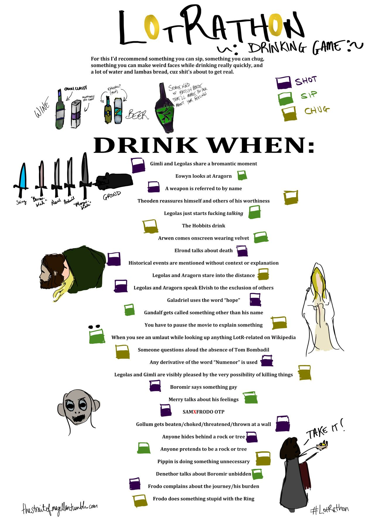 LOTR Drinking Game Youre So Nice Ill Pin A Variation Nerdy ThingsFilm2