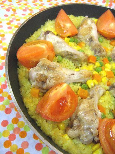 Paella ♥ in a Frying Pan