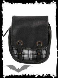 Weiß-schwarz karierte Kilt Tasche