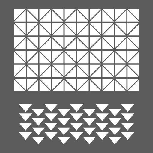 Pochoir triangles