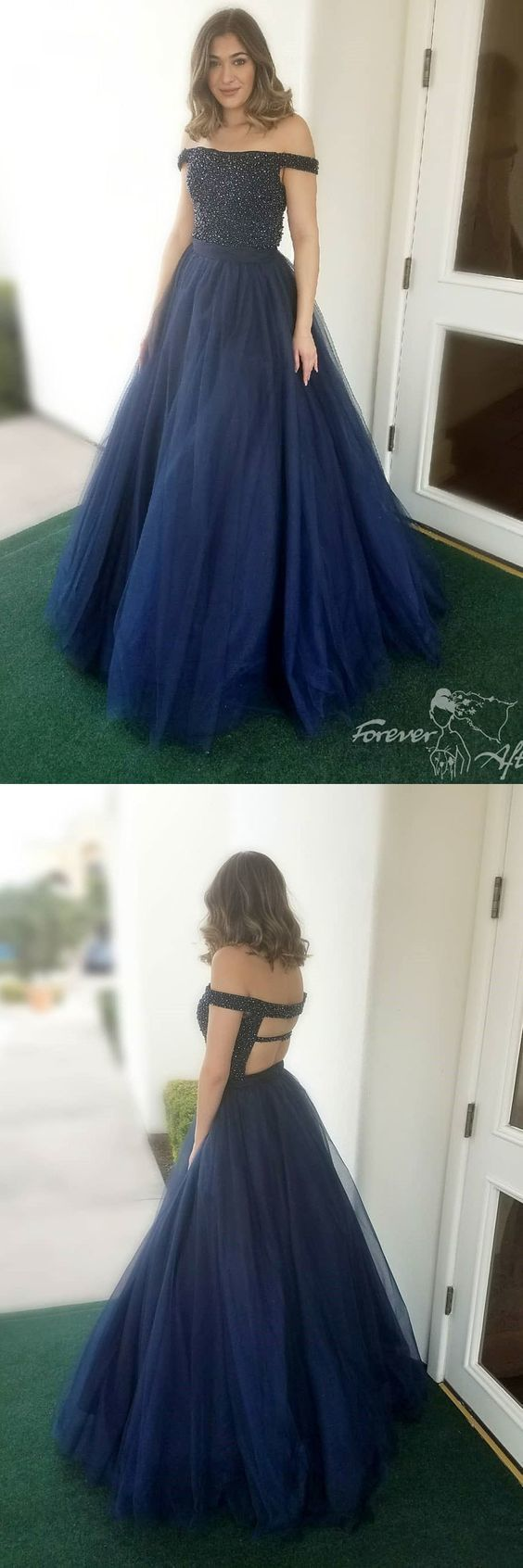Long prom dress off the shoulder prom dress ball gown party dress