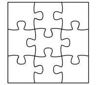 Puzzle 9 Piece Template