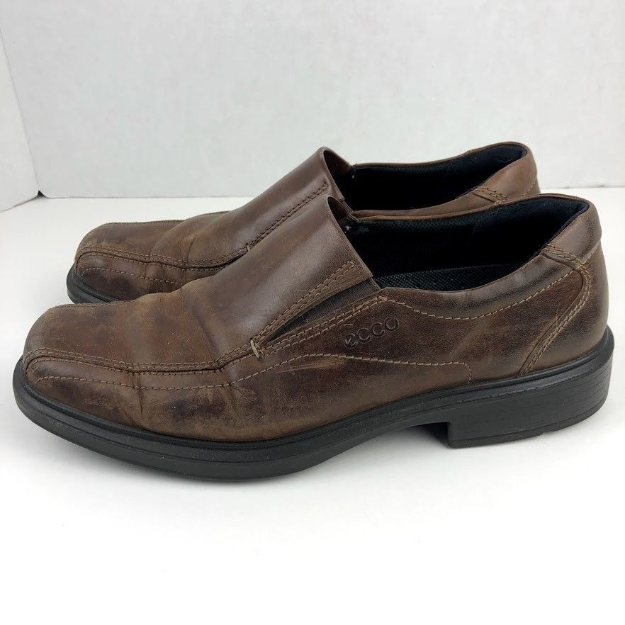 e0e576a97df ECCO Mens Helsinki Slip On Loafer Shoe Cocoa Brown Leather Size 42 EU 8 -  8.5 US  fashion  clothing  shoes  accessories  mensshoes  dressshoes (ebay  link)