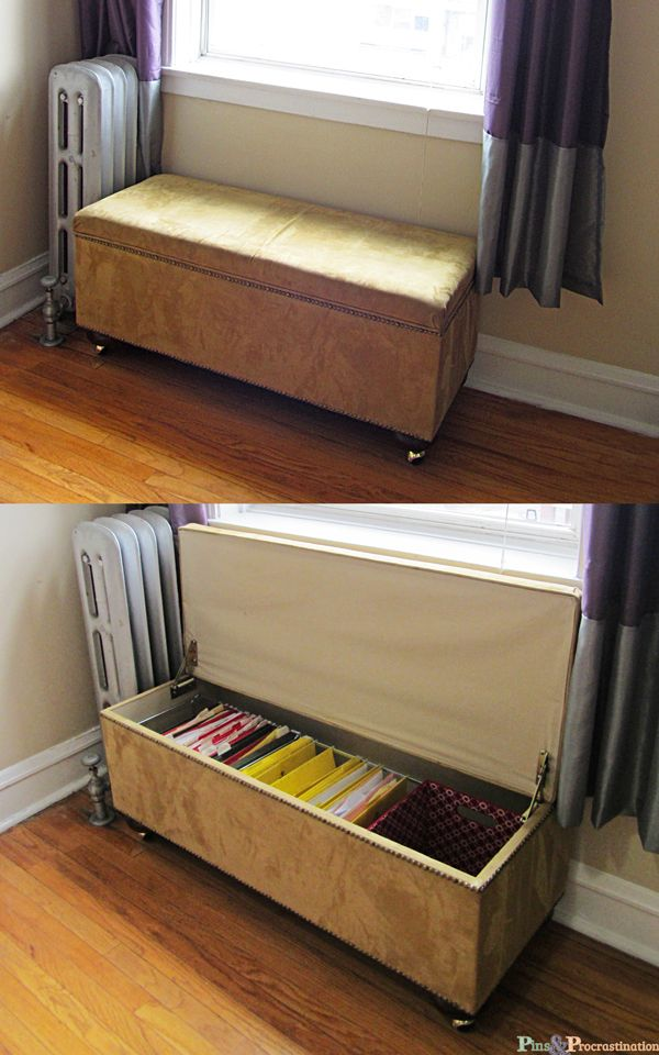 Diy File Bench Pins And Procrastination Diy Pallet Furniture Diy File Cabinet Guest Room Office