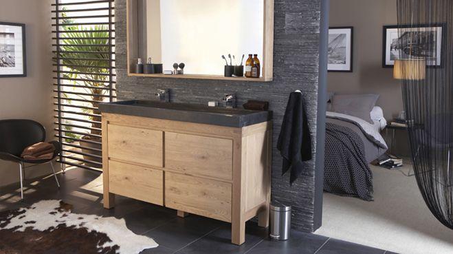 Photo chambre avec salle de bain et dressing 04540196 Salle de bain ouverte sur la chambre