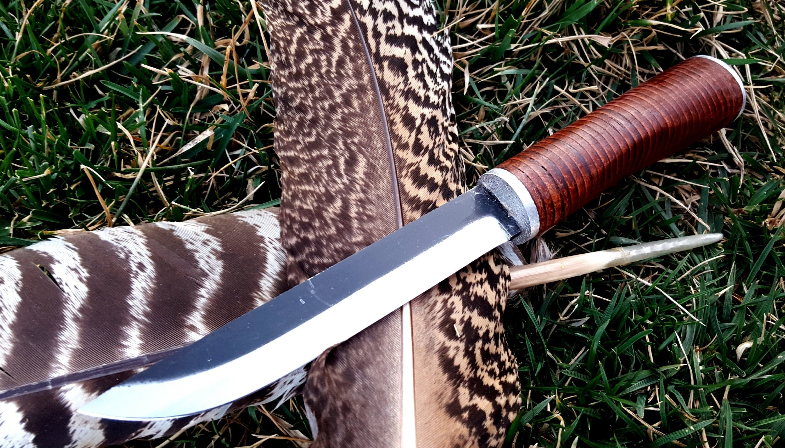 How to make a leather handle for a knife leather handle