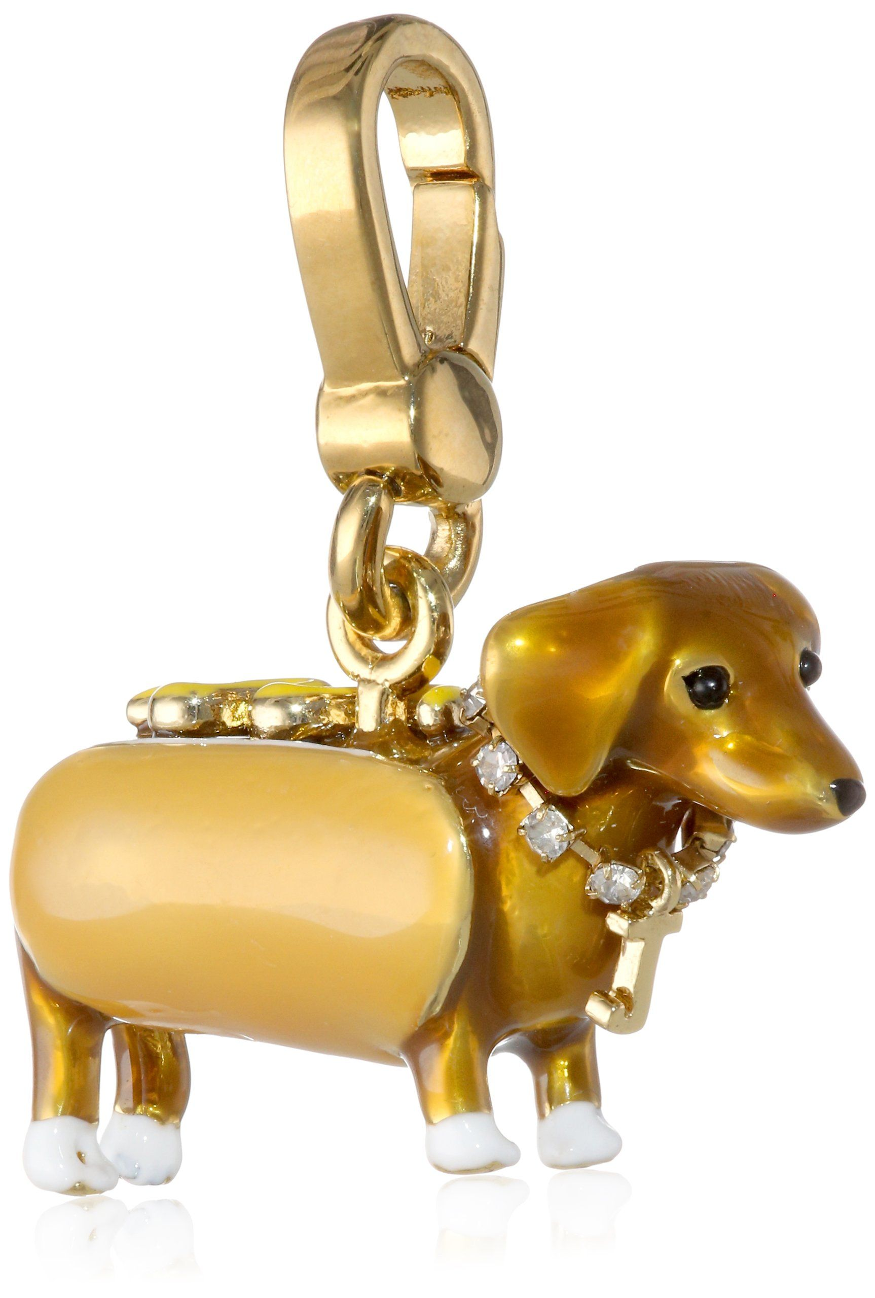Juicy Couture Dachshund In A Hot Dog Bun Charm Dachshund Lovers