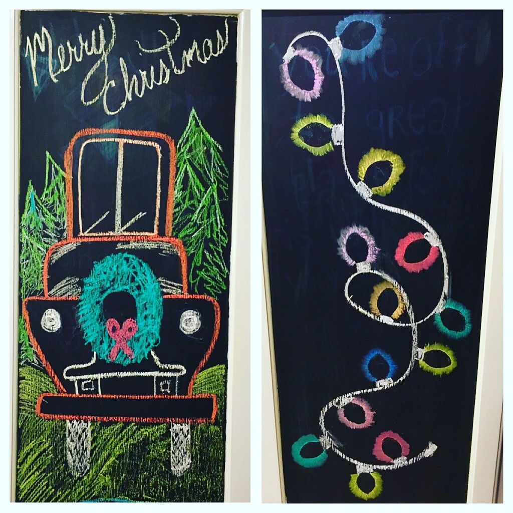 Christmas Chalkboard ideas  Chalkboard art Chalkboard truck #christmaschalkboardartideas