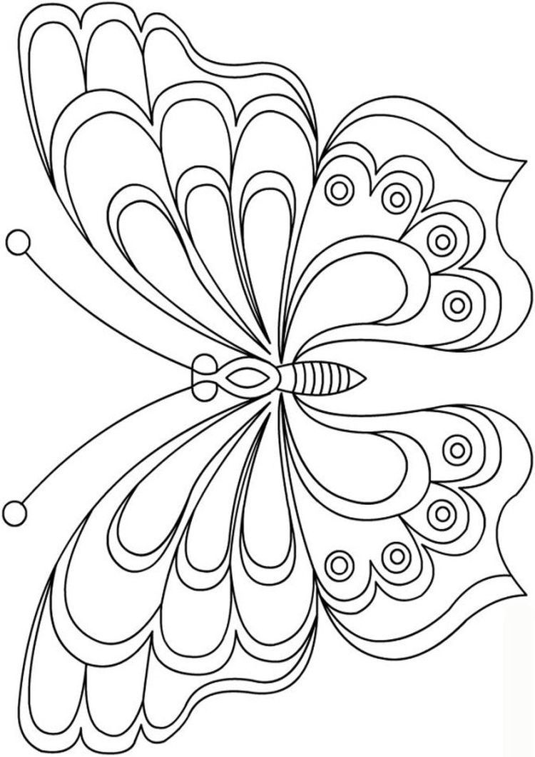 Free Printable Butterfly Templates , different size