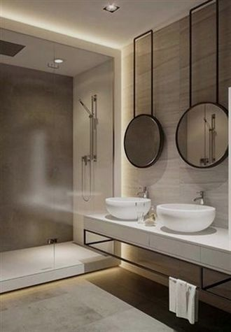 Special Bathroom Mirror Ideas There Are An Endless Number Of Ways To Develop A S With Images Modern Bathroom Design Luxury Bathroom Master Baths Bathroom Lighting Design