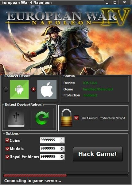 European War 4 Napoleon Hack Ios Android Cheat Engine For Unlimited Coins Medals And Royal Emblems Download 2020 Cheat Engine Hacks Napoleon