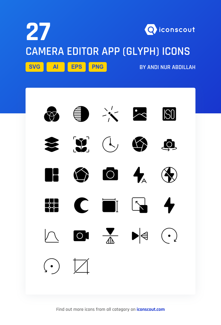 Download Camera Editor App (Glyph) Icon pack Available