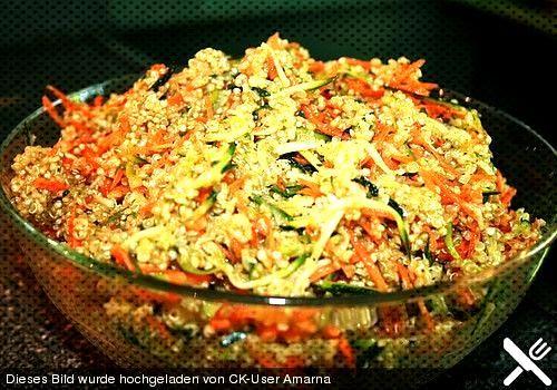 Quinoa Salat mit Möhre und Zucchini von Amarna | Chefkoch - Quinoa Salat mit Möhre und Zucchini,