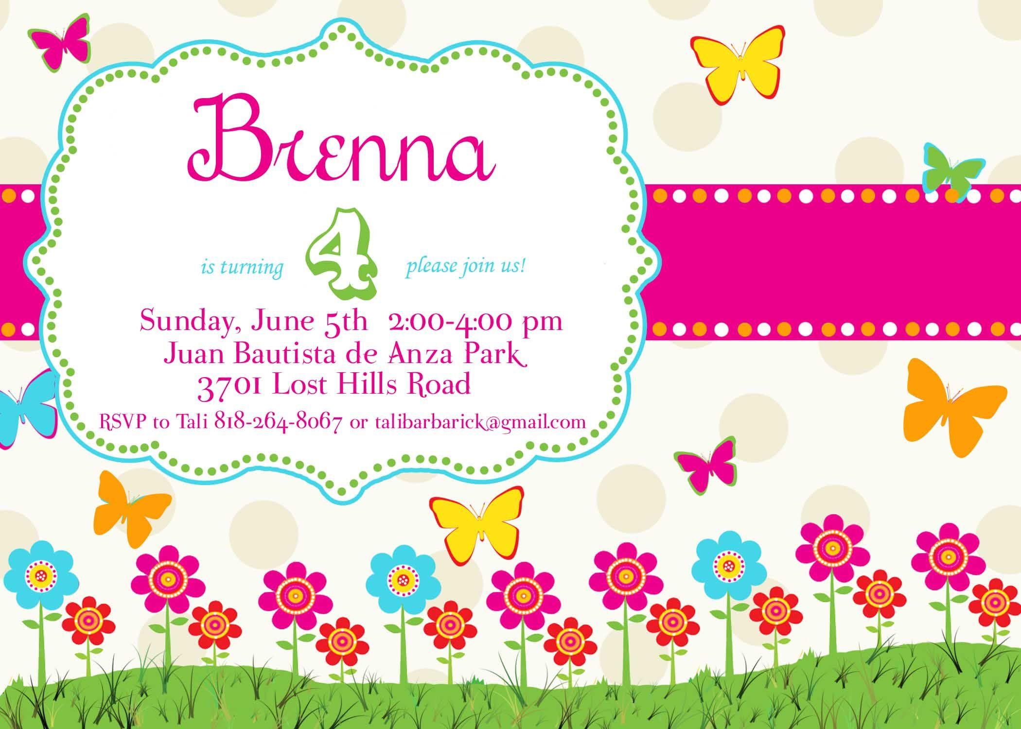 Butterfly Invite Www Jbeedesigns Com Www Paintedpreppy Blogspot Com Butterfly Invitations Birthday Invitation Card Template Birthday Invitation Templates