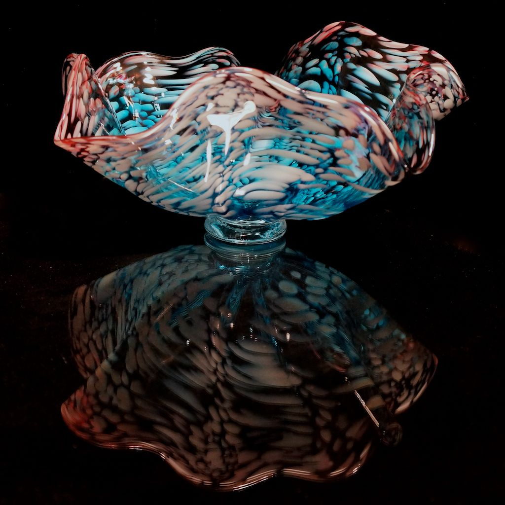 Blown glass glass blowing glass studio glass