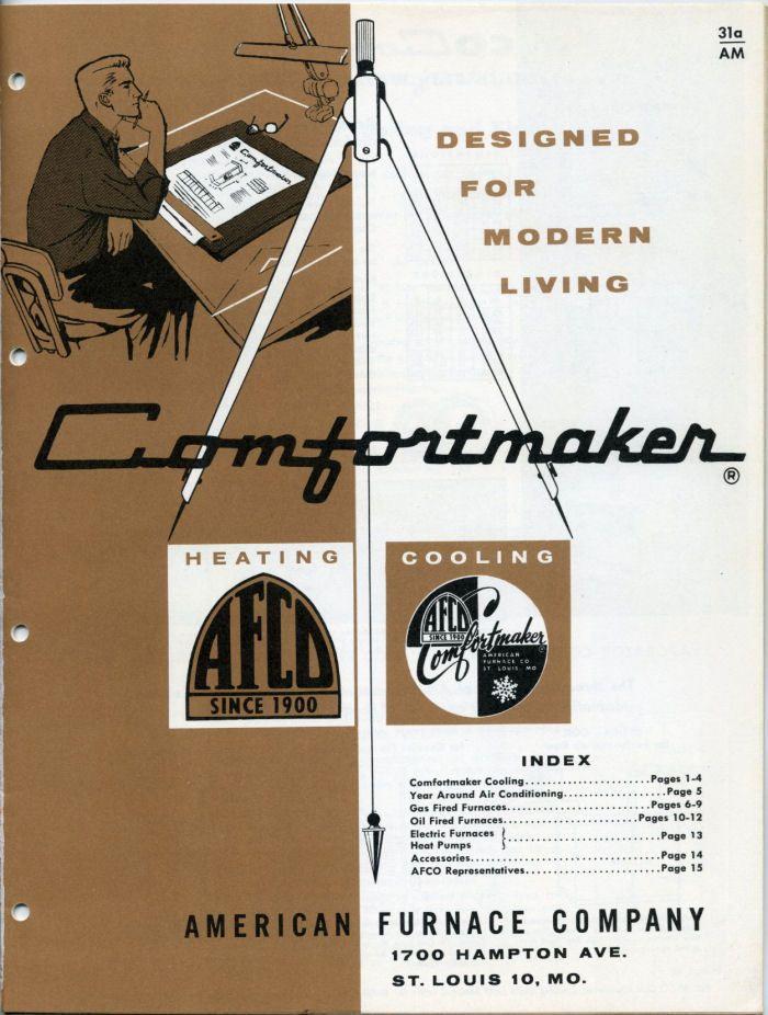 American Furnace Company Heating Catalog 1961 Afco Comfortmaker