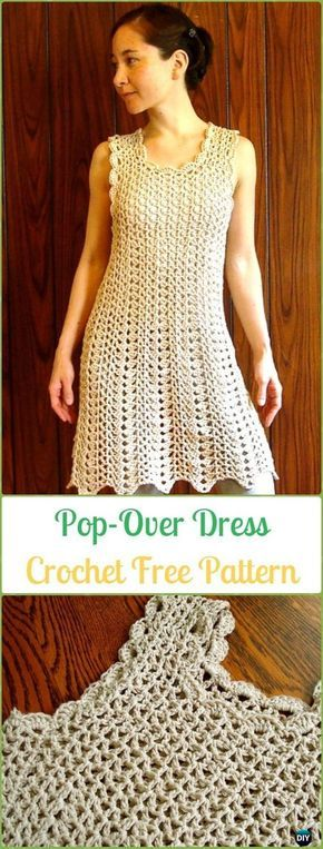 Crochet Women Dress Free Patterns & Instructions   Bahme ...