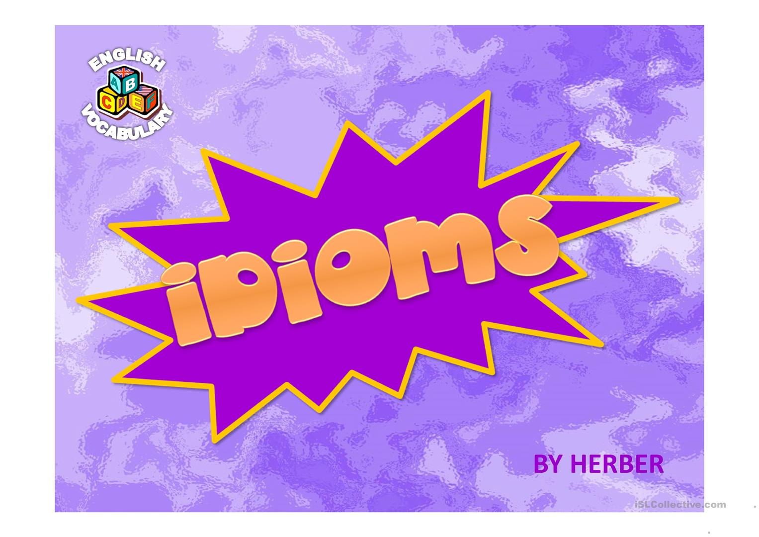 Idioms Ppt Worksheet
