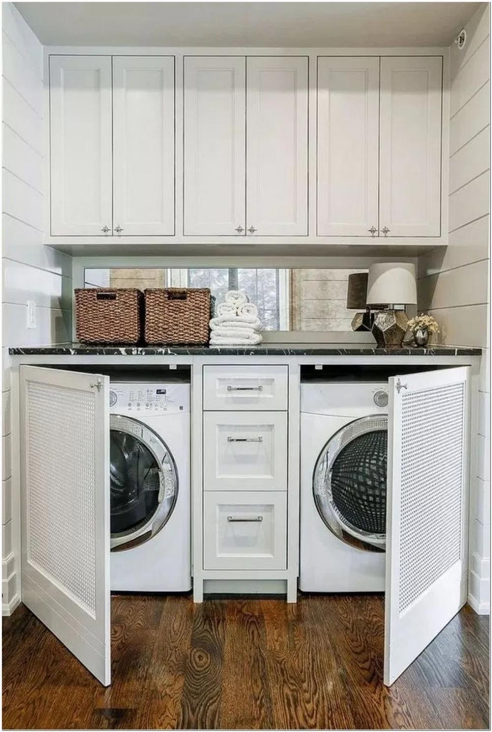 Photo of 63 Smart Farmhouse Laundry Room Storage Organization Ideas 10