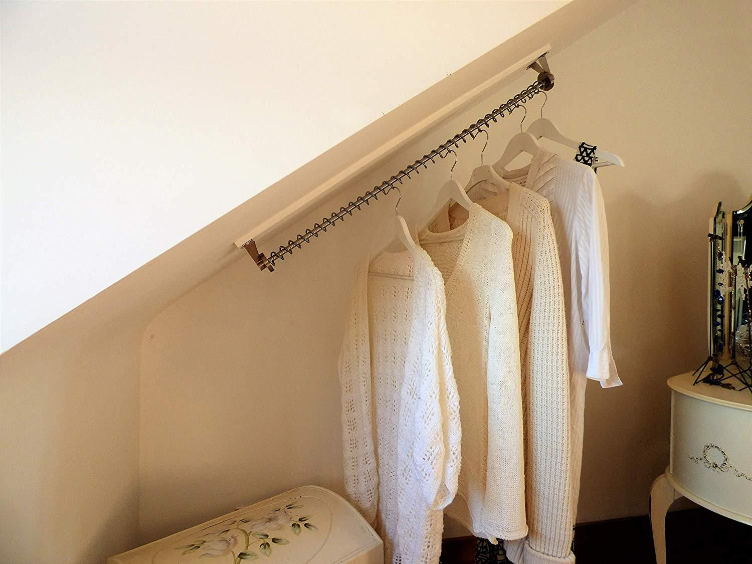 Waterfall Clothes Hanging Rail Rack Storage For Sloping