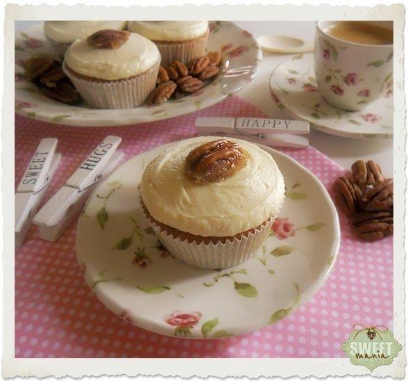 Sweet Mania: Cupcakes de jarabe de arce y pecanas
