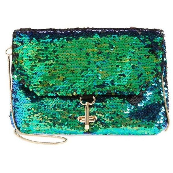 Women's Deux Lux 'Ariel' Convertible Sequin Clutch (817.205 IDR) ❤ liked on Polyvore featuring bags, handbags, clutches, purses, ariel, green, party clutches, convertible crossbody, crossbody handbags and man bag