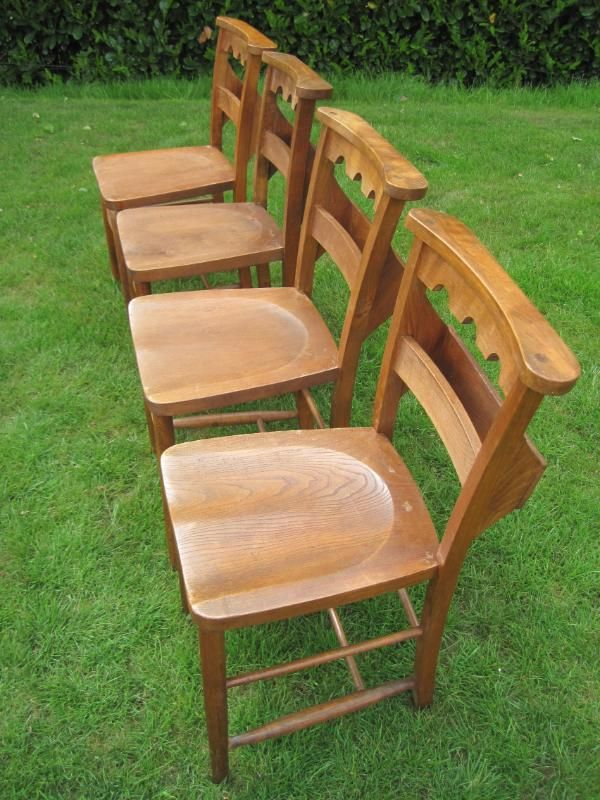 £65 Reclaimed Antique Victorian Church Chairs,church,used,old,kitchen,
