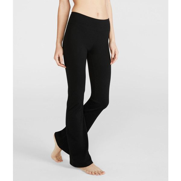 c58dac03e0b Aeropostale LLD Core Bootcut Yoga Pants*** ($15) ❤ liked on Polyvore  featuring activewear, activewear pants, black and aéropostale