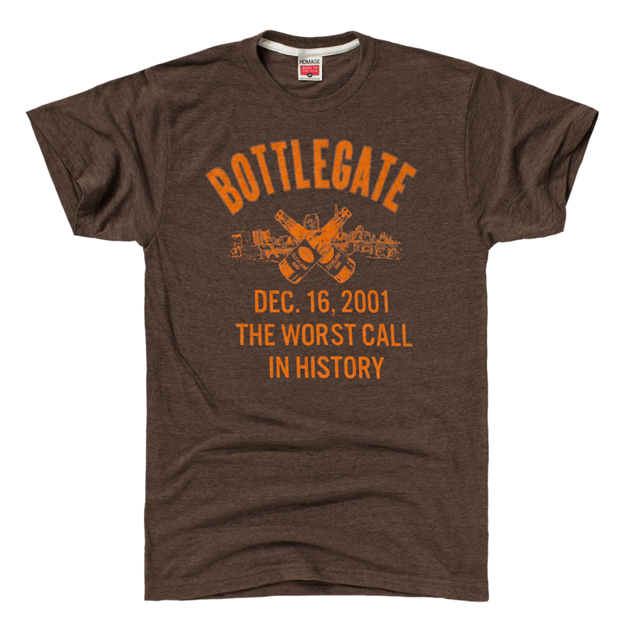 Homage Cleveland Browns Bottlegate Football T Shirt 28 00
