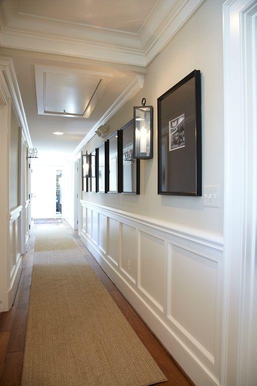 Ordinaire Traditional Hallway With Hardwood Floors, Wall Sconce, Chair Rail, Safavieh  Natural Fiber Natural/Light Brown Area Rug