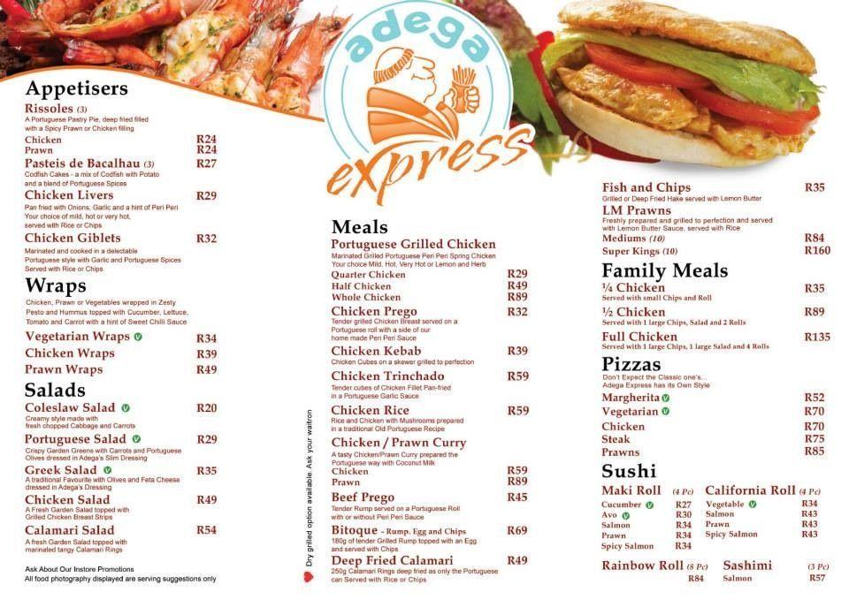 Our Tasty Menu Front Page Adega Express Menu Tasty