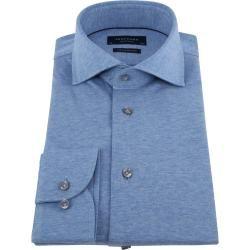 Profuomo Knitted Jersey Hemd Hellblau Profuomo