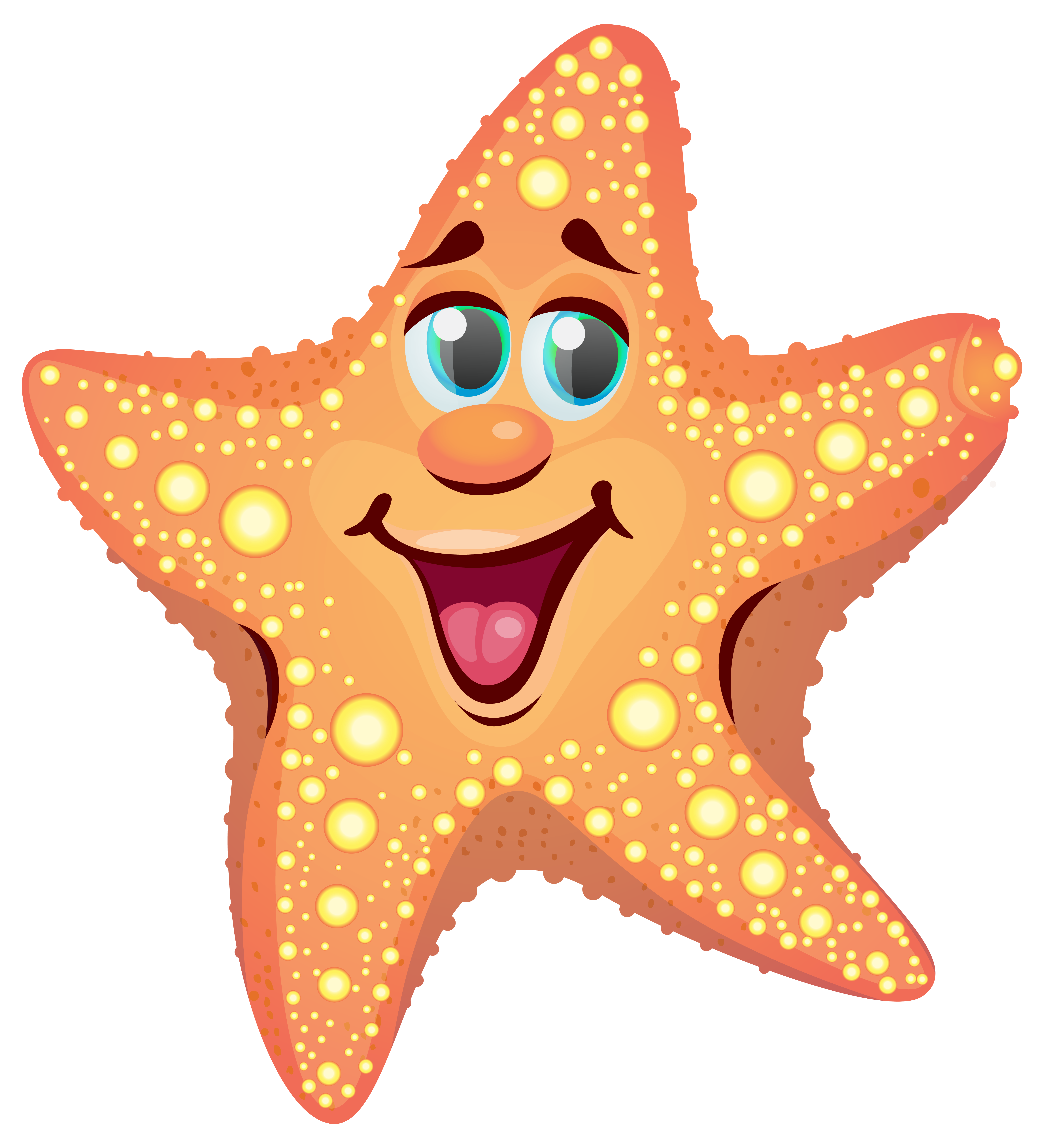 Cartoon Starfish PNG Clipart Image With Images
