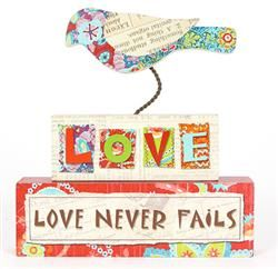 Bird Plaque   Love Never Fails   Walk By Faith Collection #homedecor