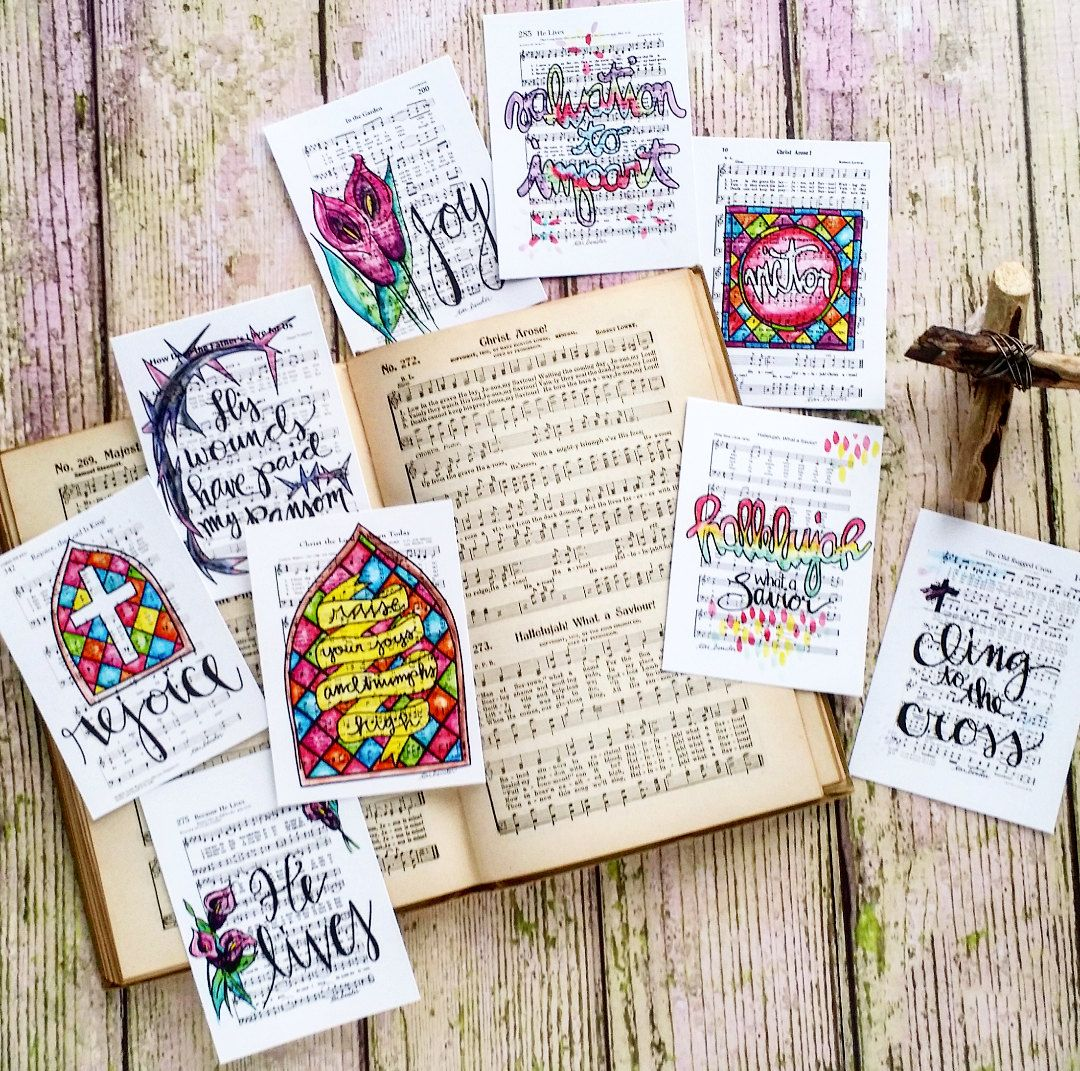 Download Christian Journaling Cards 3x4 Easter Holy Week by ...