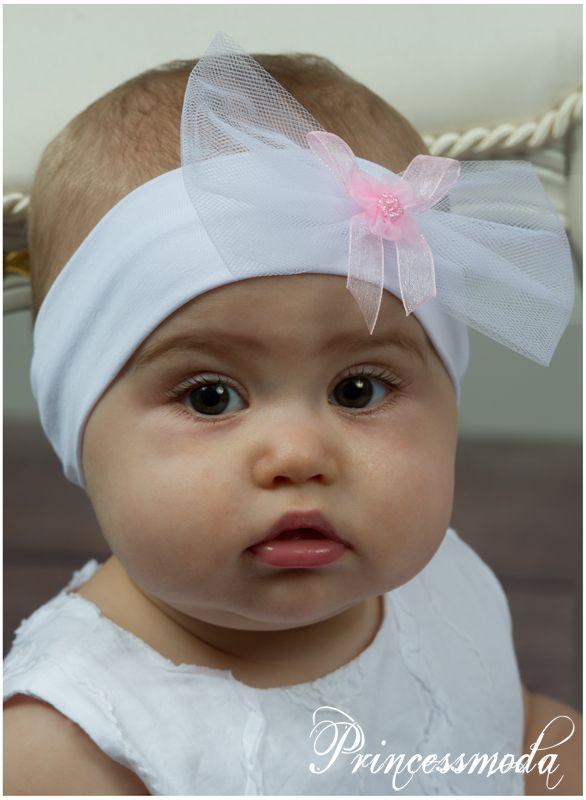 3c161851a2fce Baby-Stirnband für besondere Anlässe! - Princessmoda - Alles für Taufe  Kommunion und festliche Anlässe
