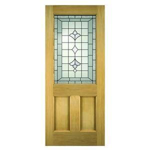 Avon Oak Veneer Exterior Door 80 X 32 Inches