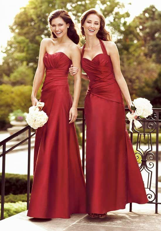 Taffeta Halter Bridesmaid