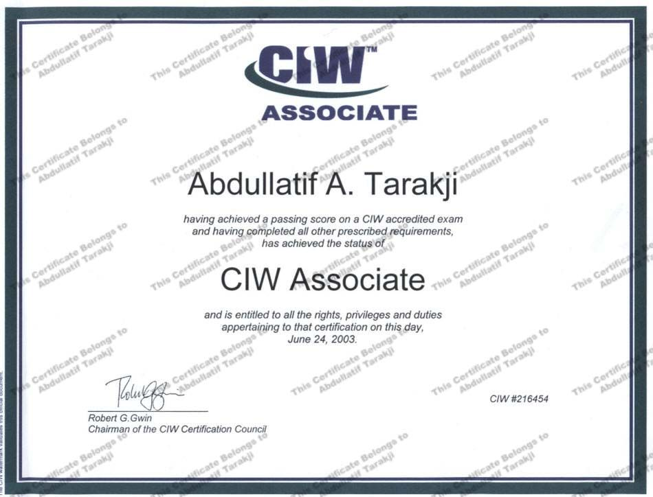 Ciw Certified Internet Webmaster Mycertifications Pinterest
