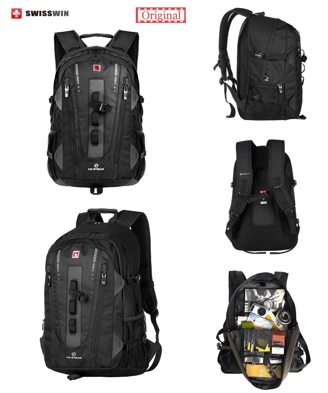 Visit to Buy  Swiss Brand Backpack Men Swissgear Backpack Bag Swiss Army  Black High d8a23585fc189